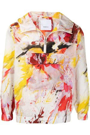Ports V Windbreaker mit Graffiti-Print