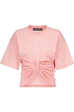Y / PROJECT Gerafftes T-Shirt aus Baumwolle