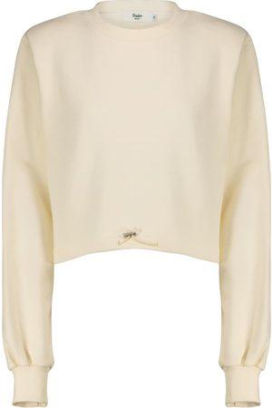 Frankie Shop Damen Longsleeves - Cropped Sweatshirt aus Baumwolle