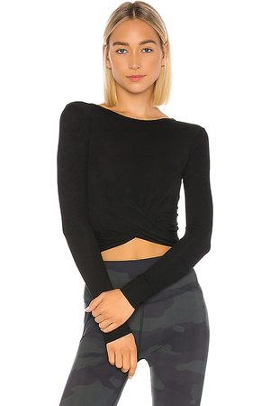 alo Cover Long Sleeve Top in . Size S, XS.
