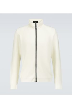 Fendi Pullover aus Wolle mit Reißverschluss