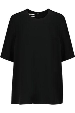 CO T-Shirt aus Crêpe