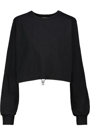 Frankie Shop Cropped Sweatshirt aus Baumwolle