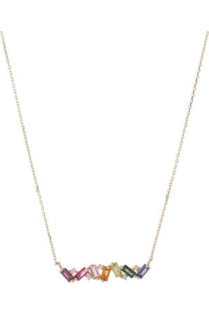 Suzanne Kalan Damen Halsketten - Halskette Frenesia Rainbow aus 18kt Gelbgold