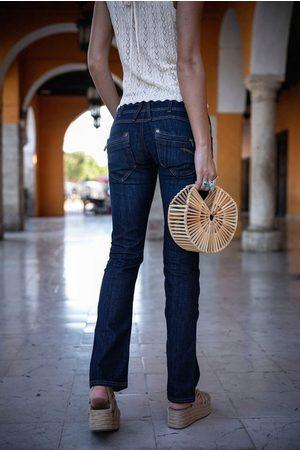 Freeman T Porter Gerade Jeans »Amelie SDM« doppelte Passe mit knack PO Effekt