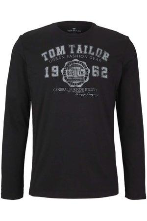 TOM TAILOR Herren Longsleeves - Herren Langarmshirt mit Print, , Gr.S