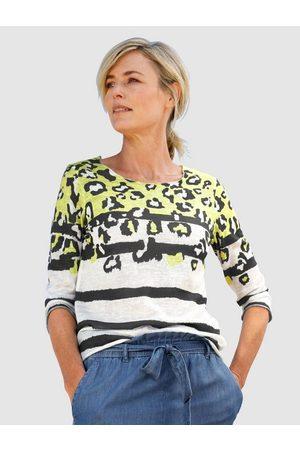 Dress In 3/4-Arm-Shirt mit modernem Druckmix