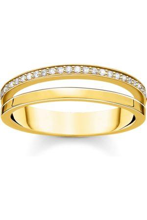 Thomas Sabo Damen Ringe - Ring doppel weiße Steine gold