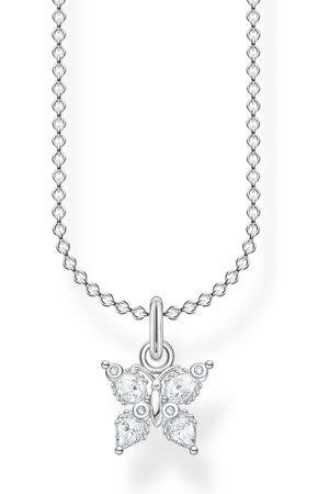 Thomas Sabo Damen Halsketten - Kette Schmetterling weiße Steine