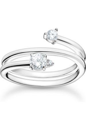 Thomas Sabo Ring Pfeil weiße Steine silber
