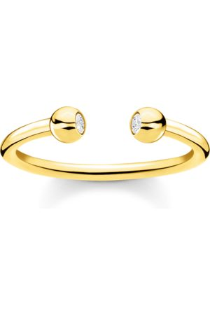 Thomas Sabo Ring Kugeln mit Steinen gold