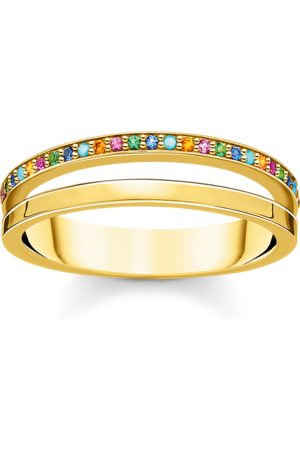 Thomas Sabo Ring doppel farbige Steine gold