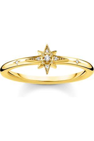 Thomas Sabo Ring Stern mit Steinen gold
