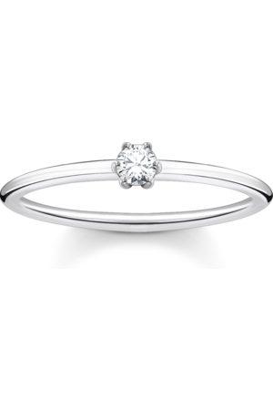 Thomas Sabo Ring weißer Stein silber