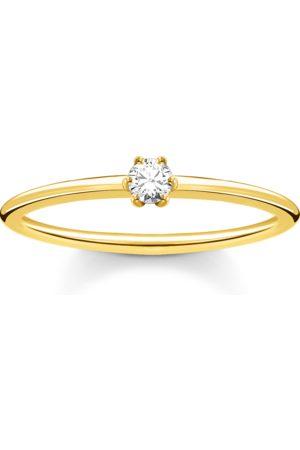 Thomas Sabo Ring weißer Stein gold