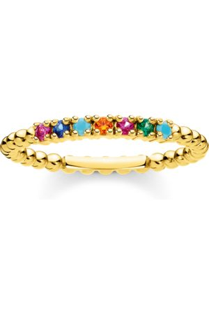 Thomas Sabo Ring Kugeln farbige Steine gold