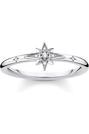Thomas Sabo Ring Stern mit Steinen silber