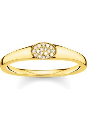 Thomas Sabo Ring weiße Steine gold