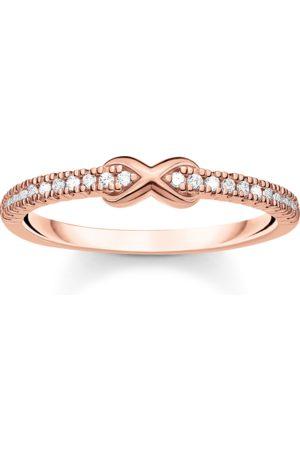 Thomas Sabo Ring Infinity mit weißen Steinen roségold
