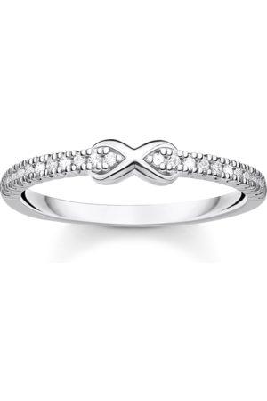 Thomas Sabo Ring Infinity mit weißen Steinen silber