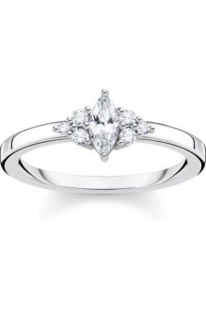 Thomas Sabo Damen Ringe - Ring Vintage weiße Steine silber