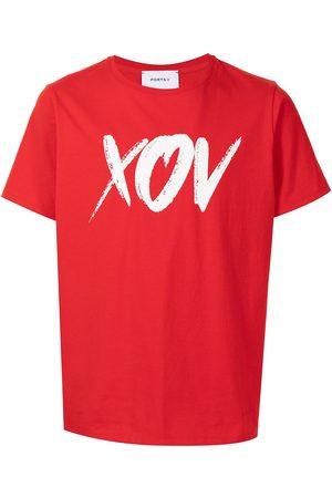 Ports V T-Shirt mit Slogan-Print
