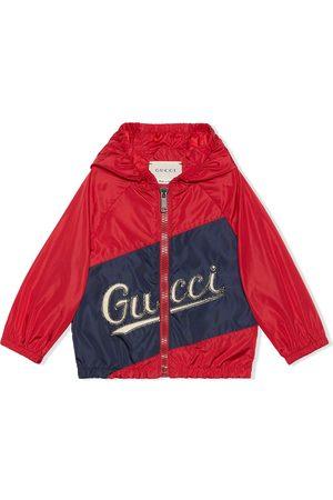Gucci Kids Kapuzenjacke mit Logo-Print