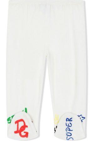 Dolce & Gabbana Leggings mit Logo-Stickerei