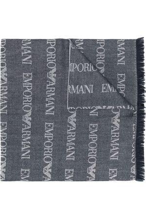 Emporio Armani Langer Schal mit Logos