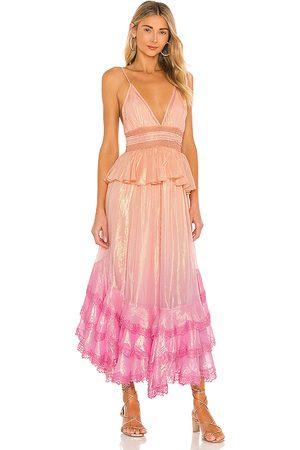 ROCOCO SAND Emi Dress in ,Peach. Size M, S, XS.