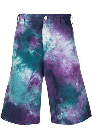 Mauna Kea Knielange Shorts mit Batik-Print