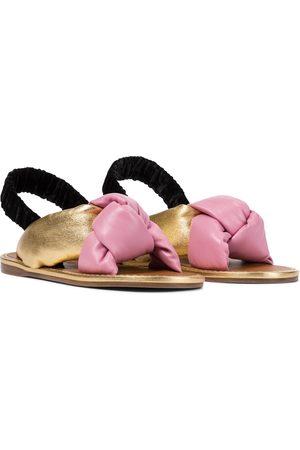 Miu Miu Slingback-Sandalen aus Leder