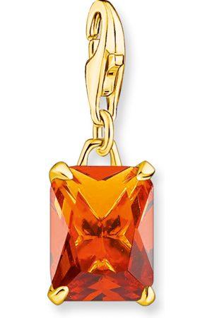 Thomas Sabo Charm-Anhänger Großer Stein orange