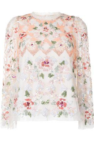 Needle & Thread Harlequin Rose Top