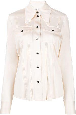 Victoria Beckham Hemd mit spitzem Kragen