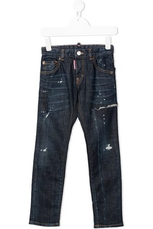 Dsquared2 Gerade Distressed-Jeans
