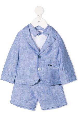Emporio Armani Kids Anzug aus Leinen