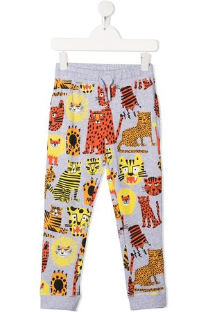 Stella McCartney Jogginghose mit Wildkatzen-Print