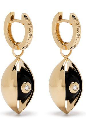 ZEEMOU ZENG 18kt Gelbgold-Hängeohrringe mit Diamanten