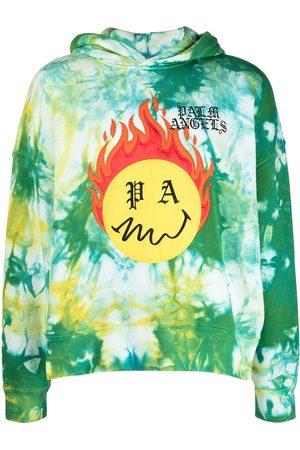 Palm Angels Burning Head Hoodie mit Batik-Print
