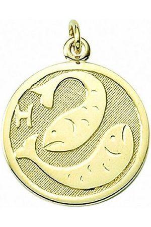 Adelia's Damen Halsketten - Kette mit Anhänger »333 Sternzeichen Anhänger Fisch Ø 16 mm - Set mit Halskette«, 333 Goldschmuck für Damen & Herren