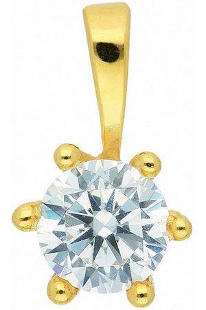 Adelia's Damen Halsketten - Kette mit Anhänger »333 Anhänger mit Zirkonia Ø 4,7 mm - Set mit Halskette«, 333 Goldschmuck für Damen
