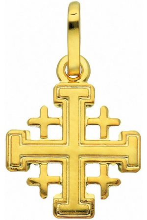 Adelia's Kette mit Anhänger »585 Gold Kreuz Anhänger Jerusalem - Set mit Halskette«, 585 Gold Goldschmuck für Damen & Herren