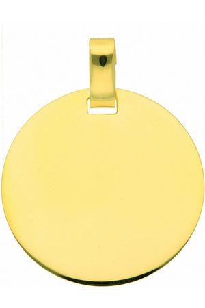 Adelia's Kette ohne Anhänger »333 Gold Gravurplatte Anhänger Ø 18 mm - Set mit Halskette«, Goldschmuck für Damen
