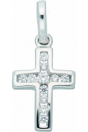 Adelia's Kette ohne Anhänger »333 Weiß Kreuz Anhänger mit Zirkonia - Set mit Halskette«, Goldschmuck für Damen & Herren