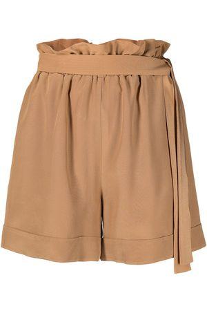 FEDERICA TOSI Taillenhohe Shorts mit Gürtel