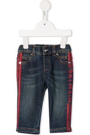 Balmain Kids Cropped - Jeans mit Logo-Streifen
