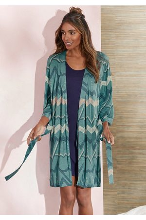 Lascana Kimono, , mit grafischem Zick-Zack Muster