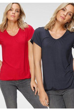 FLASHLIGHTS T-Shirt (Packung, 2er-Pack) Mit leichtem Flügelarm
