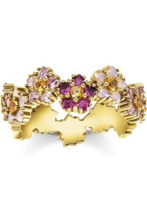 Thomas Sabo Damen Ringe - Ring Blumen farbige Steine gold